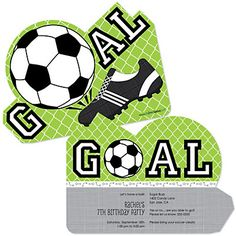 GOAAAL! - Soccer - Personalized Birthday Party Invitations ...