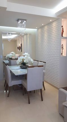 Questioning how to plan the absolute dining room? All the dining room thought that you need to your interior design project are on this board. Get a look and let you inspiring! See more clicking on the image. Small Living Rooms, Living Room Modern, Living Room Decor, Apartment Color Schemes, Apartment Design, Home Design Decor, Interior Design Living Room, Home Decor, Esstisch Design