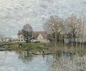 Banks of the Seine at Port-Marly - Alfred Sisley - www.alfredsisley.org