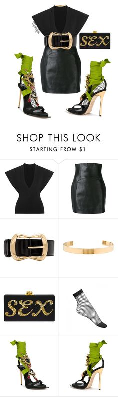 """""""Sexxxy Rated 🐾"""" by tspotstyles ❤ liked on Polyvore featuring Jacquemus, Yves Saint Laurent, Alexander McQueen, Jennifer Fisher and Dsquared2"""