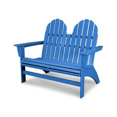 POLYWOOD® Vineyard Adirondack Bench - ADBN600 | POLYWOOD® Official Store Outdoor Seating, Outdoor Spaces, Outdoor Chairs, Outdoor Furniture, Outdoor Decor, Asian Furniture, Furniture Nyc, Street Furniture, Furniture Plans