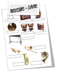 Percussion and Brass Families Music Week, Music Class, Music Education, Music School, Music For Kids, Teaching Music, Coloring Book Pages, Musical Instruments, Kindergarten