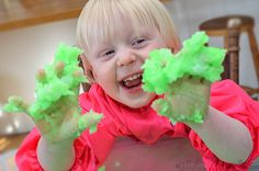 Super sensory play with this gooey, squishy, easy to make sludge!