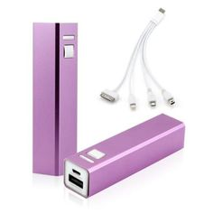 I'm learning all about 2600mAh Portable Mobile USB Power Bank External Battery Charger for Cell Phone backup - Purple at @Influenster!