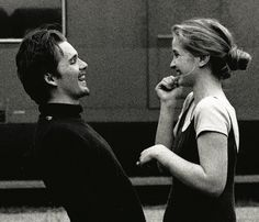 Julie Delpy in Before Sunrise obsessedwithethanhawke Ethan Hawke & Julie Delpy in Before Sunrise Shot by Gabriela Brandenstein The post Julie Delpy in Before Sunrise obsessedwithethanhawke appeared first on Film. Julie Delpy, Before Trilogy, Before Sunrise Trilogy, Before Sunrise Movie, Ethan Hawke, Photographie Portrait Inspiration, Romantic Films, Romance, Painted Ladies