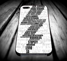 Harry Potter Spells iPhone 4/4s/5/5s/5c/6/6 Plus Case, Samsung Galaxy S3/S4/S5/Note 3/4 Case, iPod 4/5 Case, HtC One M7 M8 and Nexus Case