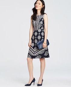 Image of Paisley Mosaic Flare Dress