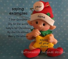 Baby Holding Star FIRST Christmas Ornament 1st by Buttonwilloe, $25.00