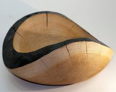 Sand Blasted Wood bowl Thick Heavy Oak hand turned textured finish