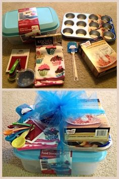 Bridal shower gift, modify according to the theme Simple Gifts, Easy Gifts, Creative Gifts, Homemade Gifts, Cool Gifts, Raffle Baskets, Diy Gift Baskets, Cadeau Baby Shower, Cadeau Surprise