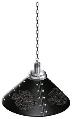 Harley Davidson Embossed Bar and Shield Pendant Lamp