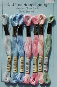 Baby Basic floss colors - This is a great pack of colors. All my favs for baby clothes!