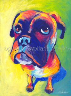 Boxer Dog #3 Painting Giclee Print