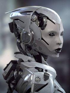 Yolandi Visser robot by KrajdenDesign. Robot Humanoïde, Arte Robot, Robot Girl, Yolandi Visser, Cyborg Girl, Female Cyborg, Futuristic Robot, Futuristic Technology, Gato Anime