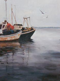 Kalastajaveneet, akvarelli