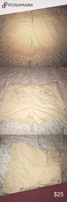 Khaki Cargo-like shorts Never worn shorts in perfect condition! Make me an offer! 👍🏻 AB Studio Shorts Cargos