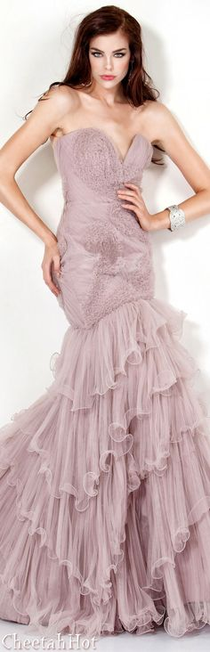 JOVANI - Lovely Ruffled Gown