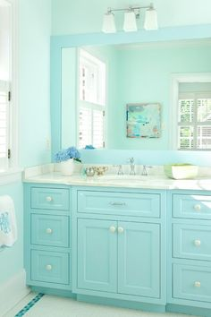 Babybluevanitywithglassknobsjpg Pixels Bathroom - Bathroom cabinets richmond va