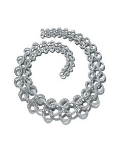 Tiffany diamond and platinum necklace in a wave pattern from Tiffany's 2015 Blue Book collection