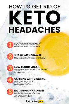 Keto headaches, or as us keto-heads call it, carb withdrawal. Besides the obvious headache, keto flu can have other symptoms as well. The most common is mental fog. Another common symptom is exhaustion and weakness.