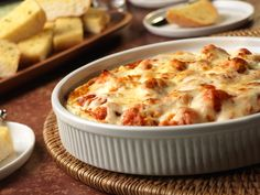 Grab a breadstick and dig into this Chicken Parmesean Dip!