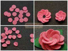 Coisinhas da Renata: Flores em Feltro...