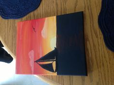 My second commission #nautical #canvas #art #beginner