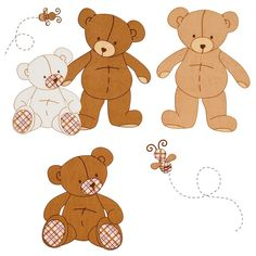 Teddy Bears Removable Wall Decals for teddy bear nursery