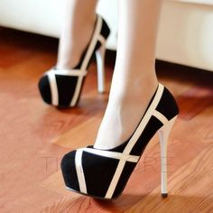 Style Strips Female High-heeled Prom Shoes