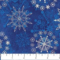 Northcott Christmas Fabric/Silver White Snowflakes by ChristmasJul, $2.75