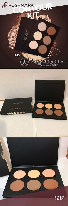 Anastasia Beverly Hills Contour Kit Authentic, GUARANTEED! Brand new in original box, Anastasia Beverly Hills Contour Kit: Kit Contour. Ideal for Light to medium skin tones. 6 contouring and highlighting powders for emphasizing facial features. Anastasia Beverly Hills Makeup Bronzer