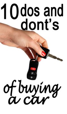 Mistakes you should avoid when you're buying a car (and what should always do, too)!