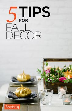 Embrace the season with color schemes inspired by the fall leaves. Fall Crafts, Holiday Crafts, Holiday Fun, Holiday Decor, Festive, Holiday Recipes, Holiday Ideas, Thanksgiving 2016, Thanksgiving Decorations