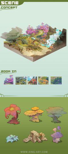 ArtStation - 第五期学员片区场景习作, Star Academy Environment Painting, Environment Concept Art, Environment Design, Star Academy, Game Textures, Isometric Art, Game Concept Art, Paint Background, Anime Fantasy