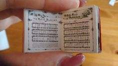 Dolls House 12th Scale  Christmas Carols Song Book. Downloadable miniature book.