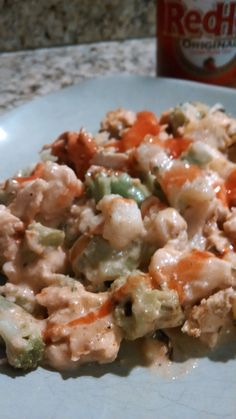 21 Day Fix Approved Buffalo Chicken Veggie Bake | HealthyFeelsHappy.com