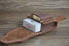Lighter Case Leather Cigarette Bag Pack Bag di RockyLeatherDesign