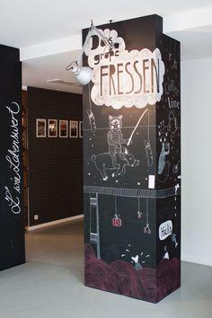 Chalk illustrations for the restaurant 'LADENLOKAL' on the Behance Network