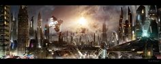 Futuristic City 3 updated background by *rich35211 on deviantART