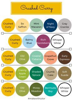 Color Inspiration - Part 5 - Mackenzie Makes Color Schemes Colour Palettes, Color Combinations, Color Trends, Stampin Up, Color Picker, Colouring Techniques, Design Seeds, Colour Board, Coordinating Colors