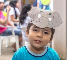 Tema: A arca de Noé. Aniversário de 1 ano do Davi Calebe. Calebe o grande rei leão da arca. Arlete Soed Fotografia©2016 Belém, Pará, Brasil. mascara elefante