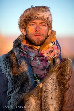 Burning Man Festival, USA fur is practical it keeps you warm at night. and you can get it cheap at Goodwill