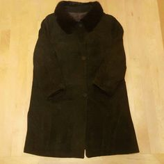 Vintage 1950's Suede Coat with Mink Collar Amazing forest green suede coat with real fur collar. Excellent condition, no flaws to note. Made from 100% leather, mink collar, and silk lining. Marked a vintage size 18 which will fit a modern 8. Vintage Jackets & Coats Utility Jackets