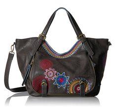 #Desigual Tasche - Modell Bols Rotterdam Amber. Muster: Mandala, schwarz.