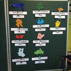 Leuk idee! Dit is ook te maken om de provincies in Nederland te oefenen Montessori, Reggio, Primary School, Holland, Classroom, Teacher, Learning, Kids, Flags