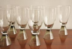 Rare set of 8 Rosenthal crystal wine glasses by highstreetmarke