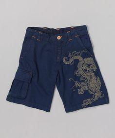 Look at this #zulilyfind! Indigo Dragon Shorts - Infant & Toddler #zulilyfinds