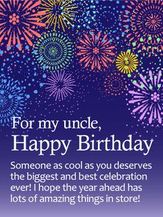 54 best birthday cards for uncle images on pinterest in 2018 send free have the best celebration happy birthday wishes card for uncle to loved ones on birthday greeting cards by davia m4hsunfo