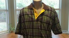 ORVIS POLO GOLF SHIRT Green Men Size L Rugby Cotton Casual Dress