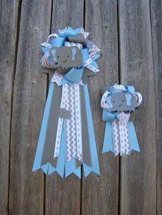 Set Of Twobaby Shower Mum Elephant Baby Shower Mum Baby By Bonbow